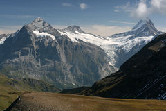 Big moutain in Switzerland Stock Photography