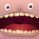 Big Mouth. Open mouth vector illustration cartoon Stock Photos