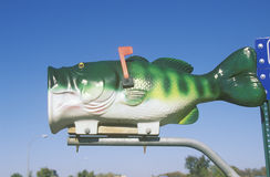 A big-mouth bass mailbox, Battle Lake, MN Stock Image