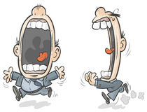 Big mouth man. Big mouth cartoon character Royalty Free Stock Image