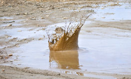 Big mud splash Stock Image