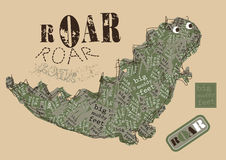 Big muddy feet ROAR! embroidery Stock Images