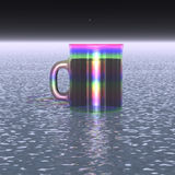 Big mug with a drink Royalty Free Stock Photo