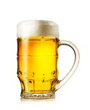 Big mug of fresh light beer with rich foam Stock Image