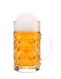 Big mug with gold beer. Stock Photos