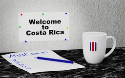 Welcome to Costa Rica Royalty Free Stock Photos