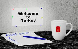 Welcome to Turkey Royalty Free Stock Photo