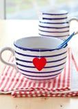 Big mug with tea Royalty Free Stock Image