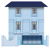 A big multi-story house. Illustration of a big multi-story house on a white background Royalty Free Stock Image