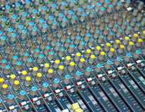 Big multichannel audio sound mixer Stock Image