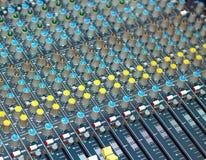 Big multichannel audio sound mixer Stock Image
