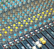 Big multichannel audio sound mixer Stock Photos