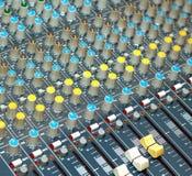 Big multichannel audio sound mixer Stock Photos