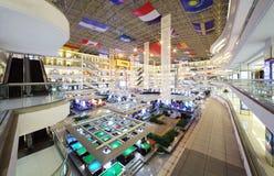 Big multistorey Louvre furniture center Royalty Free Stock Image