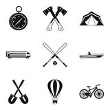 Big muscle icons set, simple style Royalty Free Stock Image