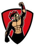 Big muscle warrior stock illustration