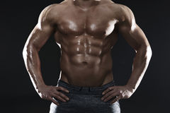 big muscles Στοκ φωτογραφίες με δικαίωμα ελεύθερης χρήσης