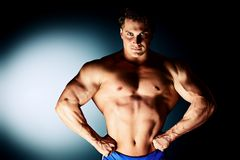 Big muscles Stock Images