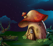 A big mushroom house at the forest royalty free illustration