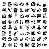 Big music icons set Royalty Free Stock Photo