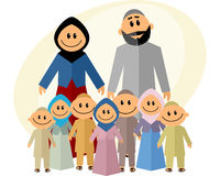Big muslim family Royalty Free Stock Photos