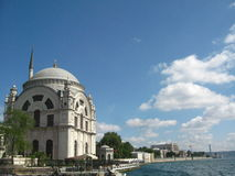 Big muslim mosque with high minarets in the city of Istanbul, Turkey Royalty Free Stock Photo