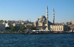 Big muslim mosque with high minarets in the city of Istanbul, Turkey Royalty Free Stock Image