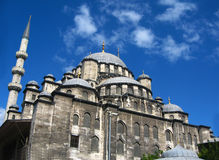Big muslim mosque with high minarets in the city of Istanbul, Turkey Royalty Free Stock Photography