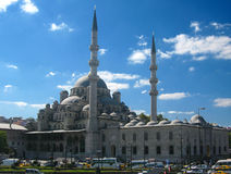 Big muslim mosque with high minarets in the city of Istanbul, Turkey Stock Image