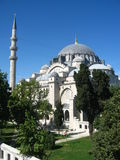 Big muslim mosque with high minarets in the city of Istanbul, Turkey Royalty Free Stock Images