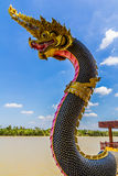 The Big Naga snake guarding Royalty Free Stock Photography
