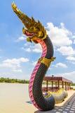 The Big Naga snake guarding Royalty Free Stock Images