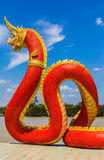 The Big Naga snake guarding Thai temple Royalty Free Stock Photography