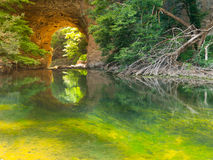 Big Natural Bridge in Rakov Skocjan Royalty Free Stock Photography