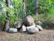 Big stones in park, Lithuania. Big natural stones in Palanga park, Lithuania Stock Photography