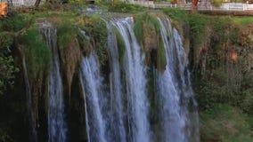 Big natural waterfall, slow mo. Tion stock footage