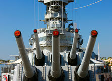 Big Naval Guns Royalty Free Stock Photo