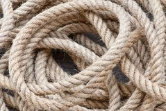 Big navy rope Royalty Free Stock Photo