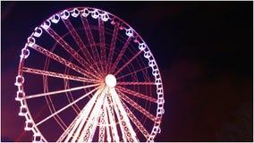 Big Neon Wheel Stock Photography