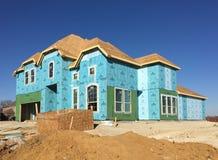 Big new house construction Stock Photos