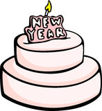 big new year cake vector illustration Royalty Free Stock Image