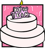 big new year cake vector illustration Stock Photo