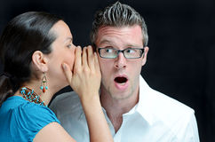 Big News. Image of a secret being told Royalty Free Stock Image