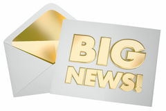 Big News Envelope Message Update Announcement Royalty Free Stock Image
