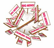 Big News Information Announcement Signs Words Stock Image