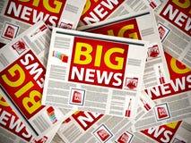 Big news newspaper headline Royalty Free Stock Photography