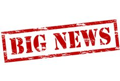 Big news. Rubber stamp with text big news inside,  illustration Stock Photo