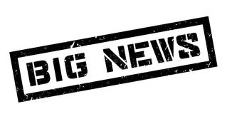 Big news rubber stamp Royalty Free Stock Image