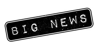Big news rubber stamp Royalty Free Stock Photography