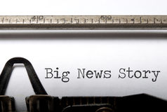 Big news story Royalty Free Stock Photos